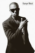 KANYE WEST Poster - B&W Full Size 24x36 ~ Rap Hip Hop Music Print