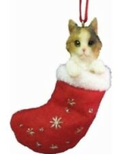 "CALICO CAT ""SANTA'S LITTLE PAL"" STOCKING ORNAMENT"