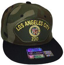 City Of Los Angeles ZOO Hat Color Camo Black Snapback