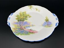 Aynsley Bluebell Time Cake Serving Plate Bone China England