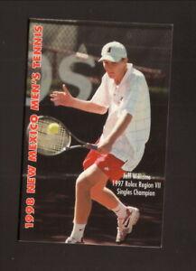 New Mexico Lobos--1998 Tennis Pocket Schedule
