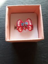 New childs pink butterfly cute handmade ring UK size J.5! Childrens jewellery!