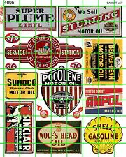 4005 DAVE'S DECALS HO SCALE MODEL GAS OIL SINCLAIR STP VINTAGE OLD GARAGE SIGN