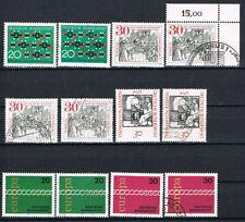 Posten- & Lots-Briefmarken aus der BRD (1970-1979) mit Sonderstempel