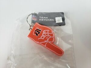 "Hard plastic Cincinnati Bengals #1 ""Foam"" Finger Keychain"