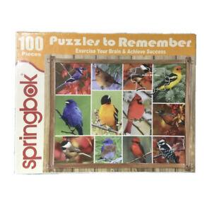 "Springbok Songbirds Jigsaw Puzzle - 100 Pieces - 18"" x 23 1/2"" BRAND NEW SEALED!"