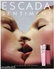 PUBLICITE ADVERTISING 105  2002  ESCADA  parfum homme & femme SENTIMENT