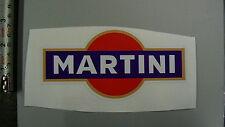 Martini  Classic Rally  Racing Car sticker blue background