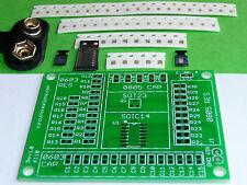 SMD SMT Electronic Component Practice Kit DIY Training Sheild w/ LED Flasher PCB