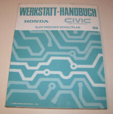 Schaltpläne Honda Civic Coupe CR-X - Stand 1988 !
