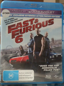 FAST & FURIOUS 6 BLU RAY - EX RENTAL, BUT IN EXCELLENT CONDITION - DISC FLAWLESS