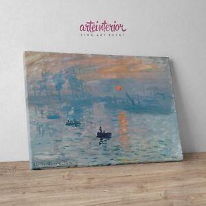 Claude Monet - Impressione, levar del sole - Stampa Fine Art HR su tela Canvas
