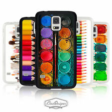 Artist Watercolour Paint Palette Colouring Pencil Case Cover for Samsung Galaxy