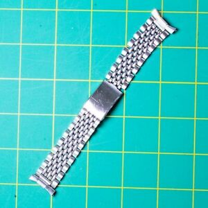 VINTAGE 18MM-20MM BAMBI BEADS OF RICE STAINLESS STEEL WATCH BRACELET / BAND
