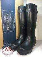 Pendleton 62015 Ladies Womens Classic Tall Waterproof Rubber Rain Boots ~ Black