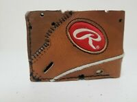 Vintage Rawlings Leather Baseball Glove Wallet bifold
