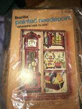 BUCILLA VINTAGE PAINTED NEEDLEPOINT GRANDFATHER CLOCK STITCHERY KIT
