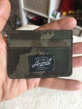 Animal Gentlemans Green Canvas Cardholder Id Wallet.