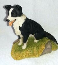 More details for teviotdale, border collie  sitting, 1991,tom mackie. made in scotland,very rare.