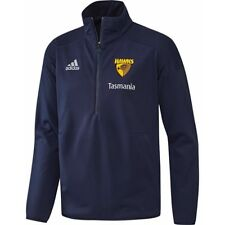 2018 Men's Hawthorn Hawks Adidas Fleecy Pullover Windcheater Top New Select Size