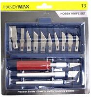 13 PCS Hobby Knife Kit Set Modelling Penknife Blades Arts Craft Knives Knifes