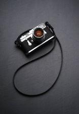 Unique Handmade Real Leather Camera strap Neck Straps for film EVIL Camera Black