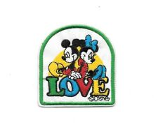 Walt Disney MICKEY MINNIE LOVE - Irion on Patches/Sew On/Applique/Embroidered