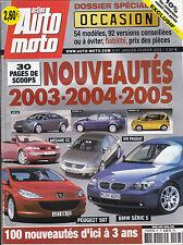 AUTO MOTO MAGAZINE N° 97 - REVUE MAG - ANNEE 2003 - NOUVEAUTES - TBE