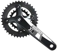 Suntour XCM Double 22/36T Chainset Crankset MTB Bicycle Bike 10s 10 speed Black