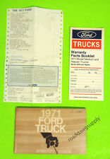 1971 Ford Truck Owners Manual Owner's Guide Book L800 L900 CT800 CT900 C8000