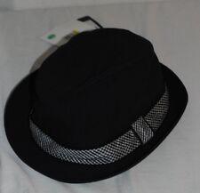 7ed63570e1d NWT DOLCE   GABBANA Cotton and Rayon Hat  Fedora Black Grey Sz 58