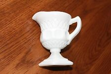 McKee Creamer,Diamond and Thumbprint pattern. 4.75 inch tall,square base
