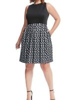 Hutch Kiss Print Twofer Scuba Knit Fit And Flare Dress Size 1X
