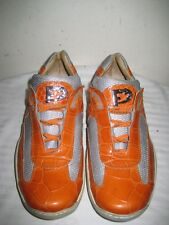 Fennix  Leather  Alligator Mesh Orange Women's Shoes Size 38 / 7.5