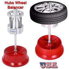 Portable Hubs Wheel Balancer W/ Bubble Level Heavy Duty Rim Tire Cars Truck