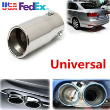 58mm ID Car SUV Chrome Bevel Exhaust Pipe Tip Muffler Stainless Steel Tail Tube
