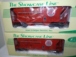 S-HELPER SHOWCASE LINE S SCALE TWO #00416 T.C.A  PS2 ANN ARBOR #1 AND #2 HOPPERS