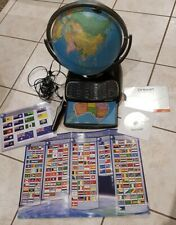 Excellent Used Oregon Smart Interactive World Globe & chart For Kid full set !
