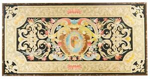 36 x 72 Inches Marble Inlay Table Top with Elegant Pietra Dura Art Dining Table