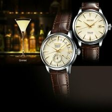 Seiko SSA387J1  Presage Cocktail Automatic Brown Leather Strap Watch NEW