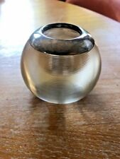 Antique Glass and Sterling Silver Match Striker - purchased in London