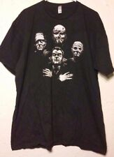 Horror Film Monsters T-Shirt - Sz: 2XL (XXL) - Frankenstein - Dracula - Wolfman
