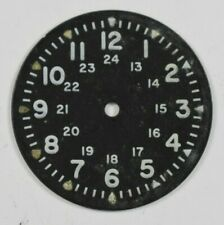 Vintage 24HR Military Wrist Watch Dial 28mm Benrus? lot.21
