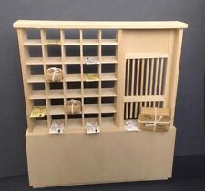 Dollhouse Miniatures Old-time Post Office Handcrafted Wood Ready to Finish,1:12