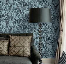 Blue Black 3D Modern Wallpaper Crushed Sequin Satin Luxury Glitter Effect Muriva