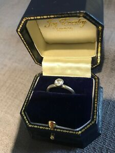 White Gold Diamond Solitaire Ring Just Under Half A Carat (4.94mm) Joy Everley