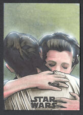 STAR WARS JOURNEY TO THE LAST JEDI SKETCH CARD by CHARLIE CODY of LEIA