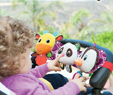 baby sozzy plush toy stretch & play musical travel trio panda,penguin,giraffe