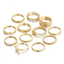 12 Pcs Gold Finger Ring Set Vintage Punk Knuckle Party Rings Jewelry Christ O3V1