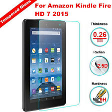 9H Real Premium Tempered Glass Screen Protector For Amazon Kindle Fire HD 7 2015